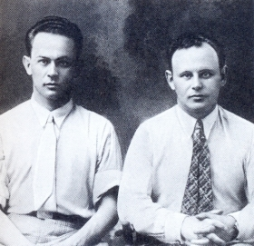 Yakov Borisovich Skomorovsky and Alexander Borisovich Skomorovsky. The photo. (Яков Борисович Скоморовский и Александр Борисович Скоморовский. Фотография.) (Belyaev)