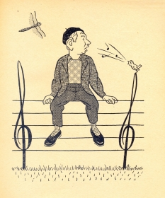 N. Doriso. The cartoon. M. Svetlov, I. Igin. (Н. Доризо. Шарж. М. Светлов, И. Игин.) (Belyaev)
