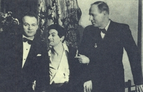 I. Kozlovsky with S. Lemeshev and ballet artist N. Holfin. The photo. (И. Козловский с С. Лемешевым м артистом балета Н. Холфиным. Фотография.) (Belyaev)