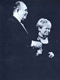A. Pakhmutova with B. Brunov. The photo. (А. Пахмутова с Б. Бруновым. Фотография.) (Belyaev)