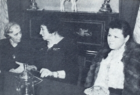 M.P. Maksakova, A.V. Nezhdanoff and professor of the Moscow Conservatory MS. Nemenova-Lunts. The end of the 1940s. (М.П. Максакова, А.В. Нежданова и профессор Московской консерватории М.С. Неменова-Лунц. Конец 1940-х гг.) (Belyaev)