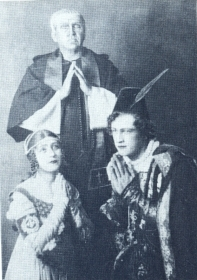 "R.G. Gorskaya, I.I. Pleshakov, N.K. Pechkovsky. ""Romeo and Juliet"". The photo. (Р.Г. Горская, И.И. Плешаков, Н.К. Печковский. ""Ромео и Джульетта"". Фотография.) (Belyaev)"