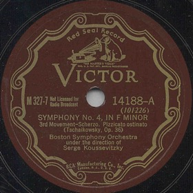 Symphony No. 4 in F minor op. 36, 3st Movement - Scherzo. Pizzicato ostinato (Симфония № 4 фа минор op. 36, 3 часть - Scherzo. Pizzicato ostinato), symphony piece (Symphony No. 4 in F minor op. 36) (Zonofon)