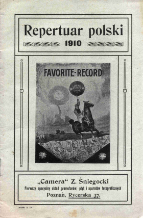 "The Catalog of Polish Records ""Favorite"" from the year of 1910 (Jurek)"